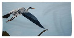 Touch The Water With A Wing Beach Towel by Randy J Heath