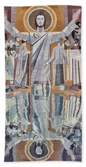 Touchdown Jesus Beach Towel
