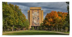 Touchdown Jesus Beach Towel by John M Bailey