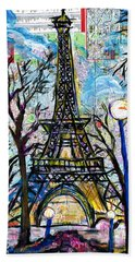 Tour Eiffel Vue De L'aquarium Beach Sheet