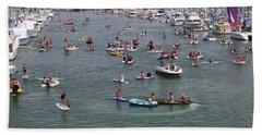 Tourists Enjoying In The Ocean, Dana Beach Towel