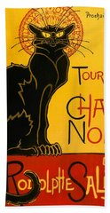 Tournee Du Chat Noir Beach Sheet