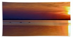 Tours End - Kayak Sunset Photo Beach Towel