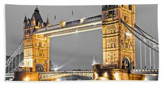 Tower Bridge - London - Uk Beach Towel