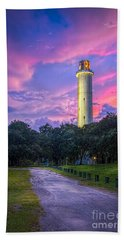 Tower In Sulfur Springs Beach Towel by Marvin Spates