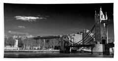 Tower Of London And Tower Bridge Beach Towel