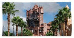 Tower Of Terror  Beach Sheet by Eric Liller