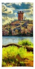 Tower On The Bluff Beach Towel