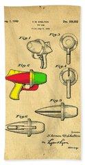 Toy Ray Gun Patent II Beach Towel