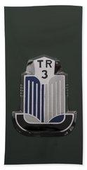Tr3 Hood Ornament 2 Beach Towel
