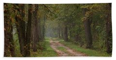 Trail Along The Canal Beach Towel by Jeannette Hunt