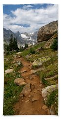 Beach Towel featuring the photograph Trail To Lake Isabelle by Ronda Kimbrow