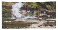 Trail To The Artists Paint Pots - Yellowstone Beach Sheet by Lori Brackett