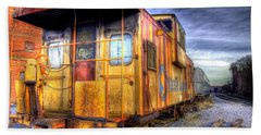 Train Caboose Beach Sheet