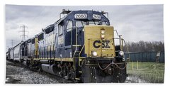 Train Engine 2668 Beach Towel
