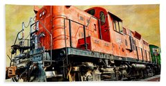 Train - Mkt 142 - Rs3m Emd Repowered Alco Beach Towel