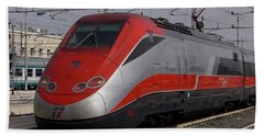 Train Out Of Rome Beach Towel