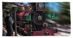 Train Ride Magic Kingdom Beach Sheet by Thomas Woolworth
