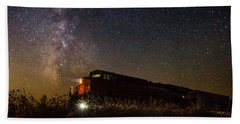 Train To The Cosmos Beach Towel