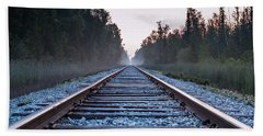 Beach Sheet featuring the photograph Train Tracks To Nowhere by Patrick Shupert