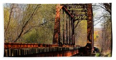 Train Trestle   Beach Towel