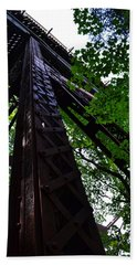 Train Trestle In The Woods Beach Towel