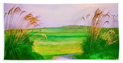 Tralee Ireland Water Color Effect Beach Towel