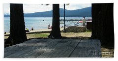 Beach Towel featuring the photograph Tranquil Moment by Bobbee Rickard