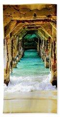 Tranquility Below Beach Sheet by Karen Wiles