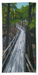 Beach Towel featuring the painting Tranquility Trail by Sharon Duguay