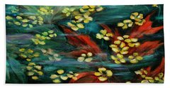 Beach Towel featuring the painting Transforming... by Xueling Zou