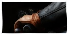 Leather Goes For A Ride Beach Towel