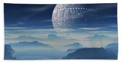 Tranus Alien Planet With Satellite Beach Sheet