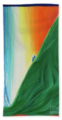 Beach Towel featuring the painting Travelers Rainbow Waterfall By Jrr by First Star Art