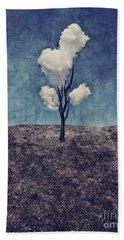 Tree Clouds 01d2 Beach Sheet by Aimelle