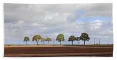 Tree Line France Beach Towel