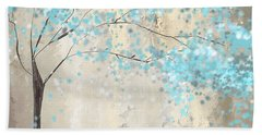 Tree Of Blues Beach Towel by Lourry Legarde