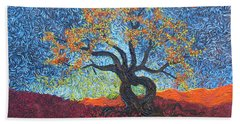 Tree Of Heart Beach Towel