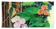 Tree Orchids Beach Towel