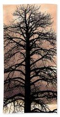 Tree Silhouette Beach Towel by Laurel Powell