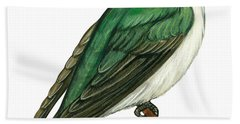 Tree Swallow  Beach Towel by Anonymous