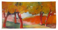 Beach Towel featuring the painting Trees #5 by Michelle Abrams