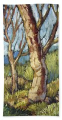 Trees In Spring Beach Towel