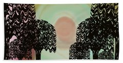 Trees Of Light Beach Towel by Christine Fournier