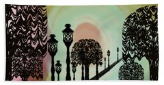 Trees Of Lights Beach Towel by Christine Fournier