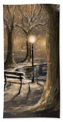 Trees Beach Towel by Veronica Minozzi