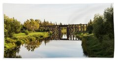 Tressel Bridge Over Sturgeon River  St Beach Towel