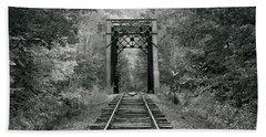 Trestle Bridge Over Railroad Track Beach Towel