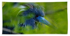 Beach Towel featuring the photograph Tri-colored Heron Concealed    by John F Tsumas