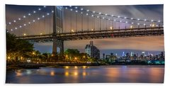 Beach Sheet featuring the photograph Triboro Bridge by Mihai Andritoiu
